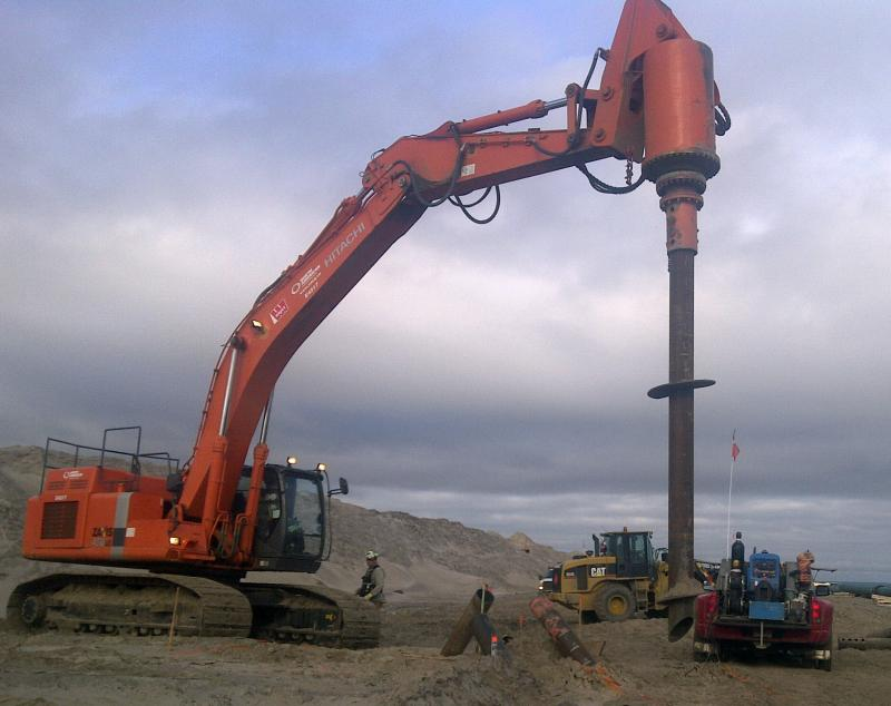 helical screw pile installation